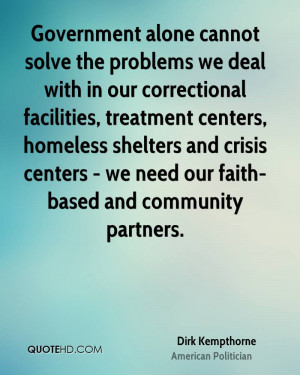 ... and crisis centers - we need our faith-based and community partners