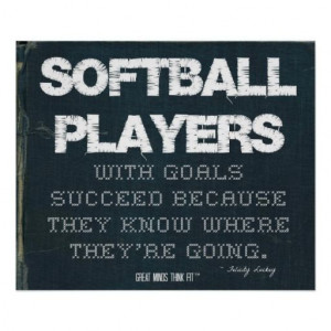 ... Goals Succeed in Denim > Poster with motivational #softball #quote