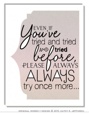Inspirational Quote Print. Try Try Again by thedreamygiraffe, $18.00
