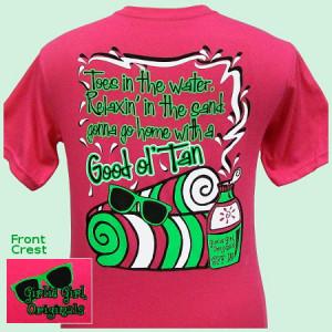 Good Ol' Tan Girlie Girl T-Shirt-t-shirt,hot pink shirt,girlie girl ...
