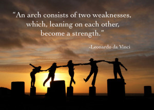 of two weaknesses which together create a strength da vinci quote ...
