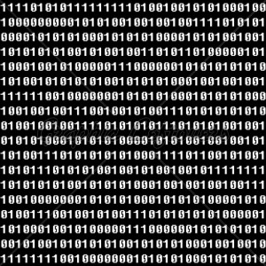 Binary Figures On Black Screen (Seamless Vector Wallpaper)
