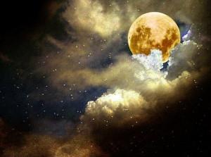 art sky moon stars clouds Celestial