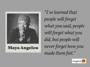 People Quotes : Maya Angelou – People Will Forget What You Said ...