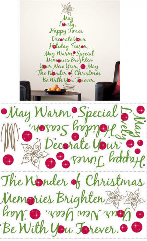 Christmas Tree Quote Giant Wall Decal The Frog And Princess