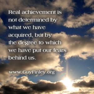 Real achievement... www.guyfinley.org