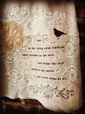 XL Hope Quote Linen Skirt// Upcycled Emily Dickinson Long Skirt ...