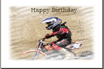 happy birthday motorcycle card motocross motorbike with a happy ...