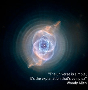 The universe is simple