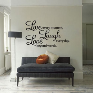Wholesale Live Laugh Love Wall Quote Vinyl Sticker Wall Decor Art ...