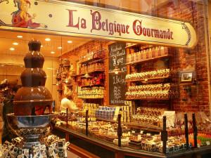 Medieval City Ghent Famous Belgium Chocolate