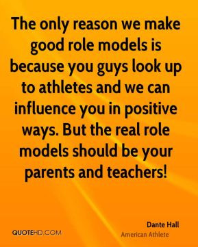 essay athletes being role models Athletes as role models essays sports have played a major role in society since the beginning of man from the greeks to the present day, the influence of great.