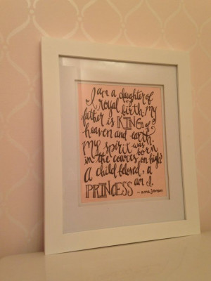 Christian / Quote / King / Princess / Daughter / Calligraphy / Hand ...