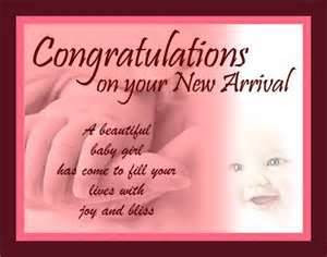 Congratulations on your New Arrival – Baby Girl