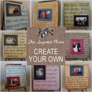 DIY quote frames