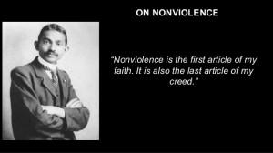 Mahatma Gandhi Nonviolence Quotes On nonviolence nonviolence