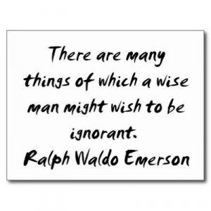 Ralph Waldo Emerson ~ Wise Man Quote Post Cards by ZazzleDazzles