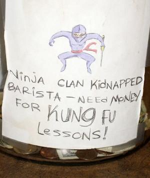 Ninja clan kidnapped barista
