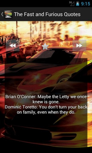 View bigger - The Fast and Furious Quotes for Android screenshot