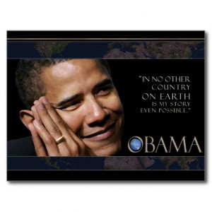 Obama Inspirational Quote Postcard