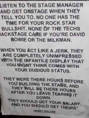 HENRY ROLLINS NOTICE TO MUSICIANS