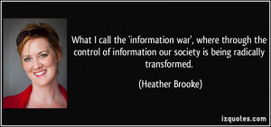 More Heather Brooke Quotes
