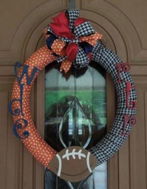 Auburn/Alabama House Divided Wreath