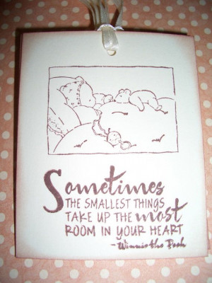 Baby Tags - Sweet Winnie the Pooh Quote Smallest things - Baby Shower ...