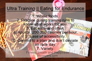 Ultra Marathon Training || Eating for Endurance jillconyers.com