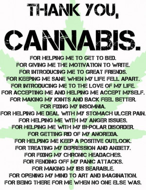 Thank You Cannabis! I Love You!