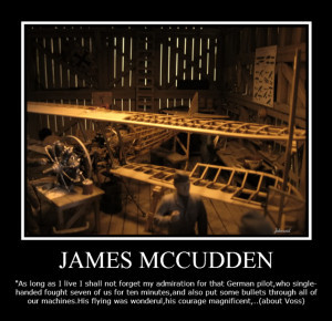 McCudden quotation about Voss