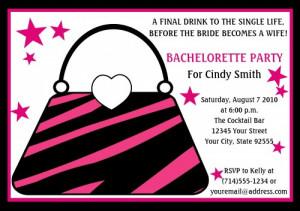 Cute Purse Bachelorette Party Invitation-YOU PRINT- 3 design