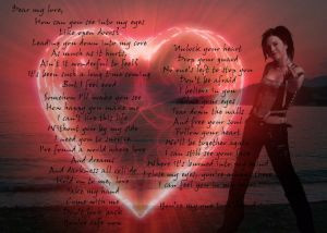 Evanescence Love Letter - Valentine's Day Card by KunoichiWolf