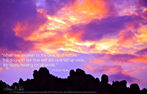 Inspirational Quote and Sunset Photography by Robyn Nola