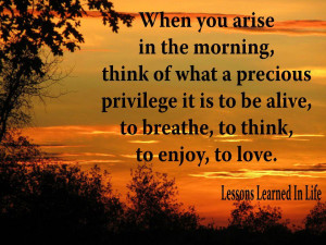 Good Morning.....some early morning inspiation