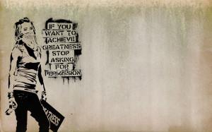 Quotes Graffiti Banksy Slogan Achievements Wide Wallpaper