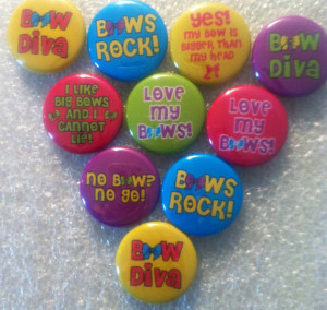 Cute Hair Bow Sayings, crafts, bottlecaps, scrapbooking cabachons