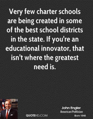 Very few charter schools are being created in some of the best school ...