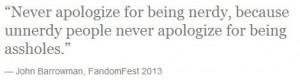 Best John Barrowman quote ever!...lol
