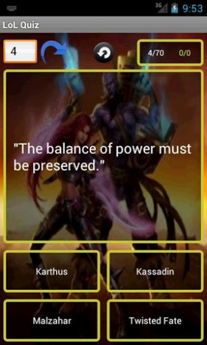 View bigger - League of Legends Quotes Quiz for Android screenshot