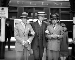 Actors Rudolph Valentino, W.S. Hart, Douglas Fairbanks. 1925