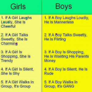 Some cute messages about boy vs girl