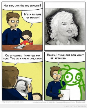 Funny Picture - Retarded son drawing