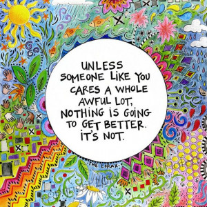 Quote from The Lorax Dr Seuss Quote Colorful Art by chARiTyelise