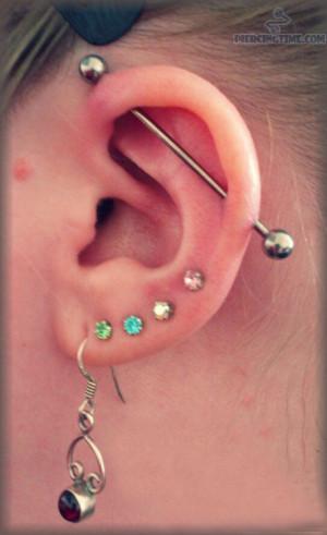 Multiple Ear Lobe Piercings