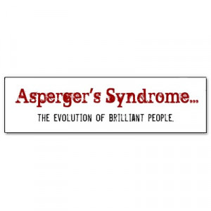 asperger s syndrome the evolution of brilliant people sticker