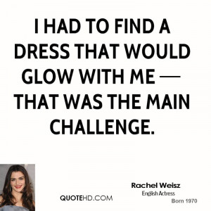 ... find a dress that would glow with me that was the main challenge