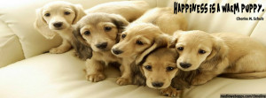 Happiness is a warm puppy. Quotes about dogs. Dog and puppy