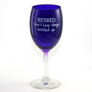 Retired Bottled Up Wine Glass