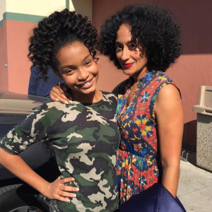 Yara Shahidi - Me & my beautiful TV mama @TraceeEllisRoss #blackishABC